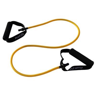 Эспандер трубчатый PROFI-FIT,желтый, сопротивление 3,5 кг