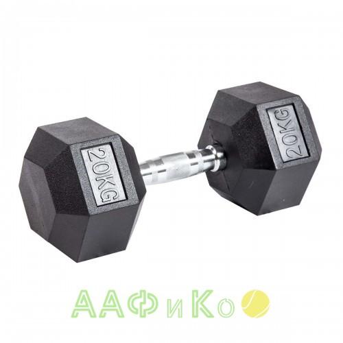 Гантель гексагональная обрезиненная ZSO, 20 кг