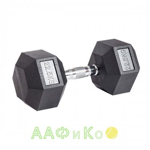 Гантель гексагональная обрезиненная ZSO, 22,5 кг