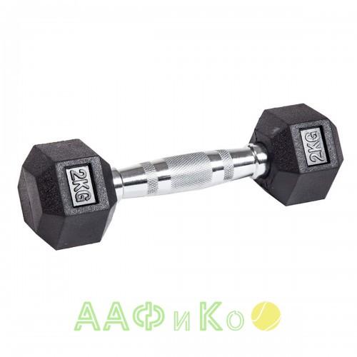 Гантель гексагональная обрезиненная ZSO, 2 кг