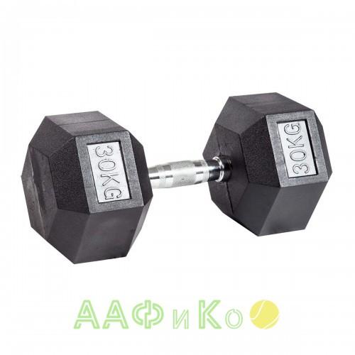 Гантель гексагональная обрезиненная ZSO, 30 кг