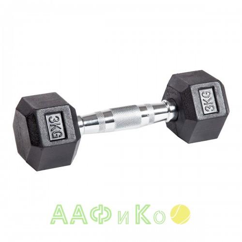 Гантель гексагональная обрезиненная ZSO, 3 кг