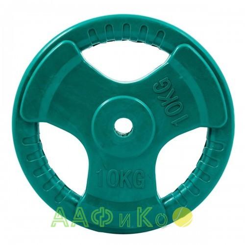 Диск обрезиненный ZSO цветной 3 HANDLE D-26, 10 кг