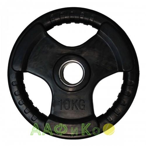 Диск обрезиненный ZSO черный 3 HANDLE D-51, 10 кг