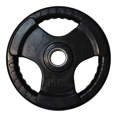 Диск обрезиненный ZSO черный 3 HANDLE D-51, 15 кг