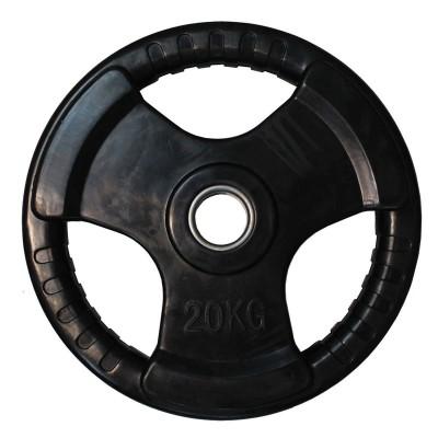 Диск обрезиненный ZSO черный 3 HANDLE D-51, 20 кг