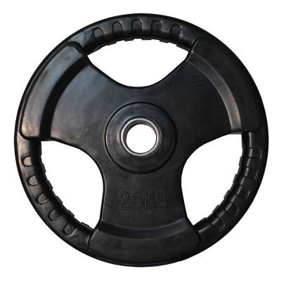 Диск обрезиненный ZSO черный 3 HANDLE D-51, 25 кг