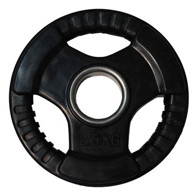 Диск обрезиненный ZSO черный 3 HANDLE D-51, 2,5 кг