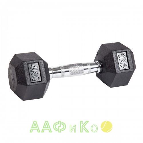 Гантель гексагональная обрезиненная ZSO, 4 кг