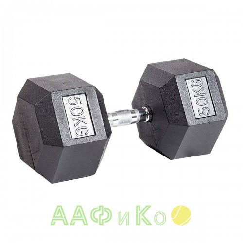 Гантель гексагональная обрезиненная ZSO, 50 кг