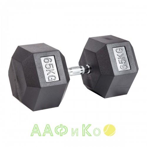 Гантель гексагональная обрезиненная ZSO, 65 кг