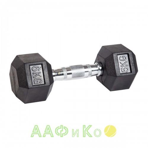 Гантель гексагональная обрезиненная ZSO, 6 кг