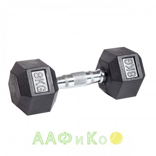 Гантель гексагональная обрезиненная ZSO, 8 кг