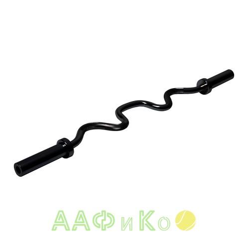 Гриф для штанги ZSO BLACK, D-50, L-1226 мм, ломаный EZ-образный до 136 кг