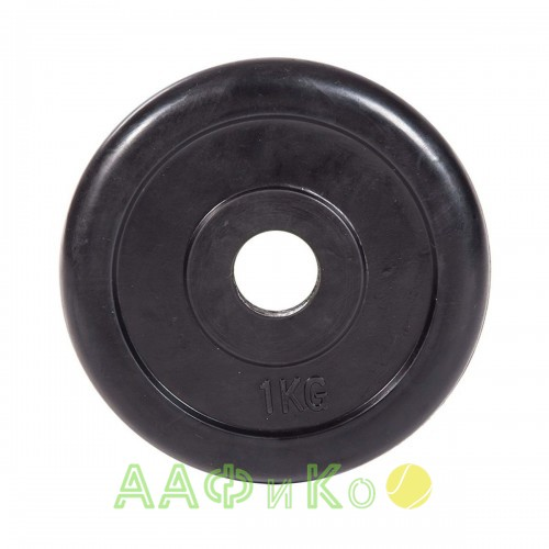 Диск обрезиненный ZSO черный Classic D-26, 1 кг
