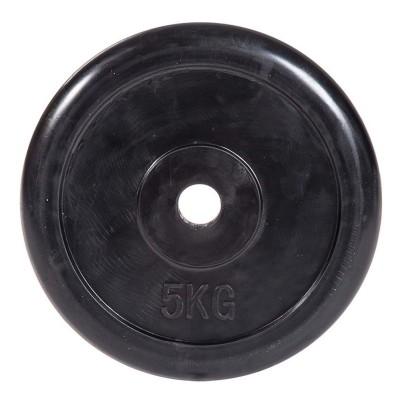 Диск обрезиненный ZSO черный Classic D-26, 5 кг