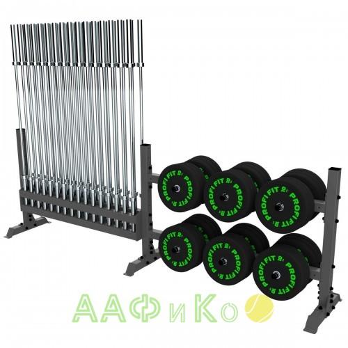A-0159 Стойка для хранения оборудования (диски-грифы)