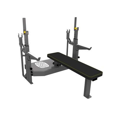 A-3146 Скамья-стойка домкратная для жима лежа со страховочными упорами Olimpic Bench