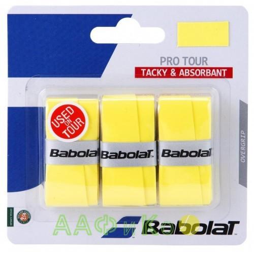 Намотка для теннисных ракеток Babolat PRO TOUR X3 (жёлтый) 3 шт. 653037-113