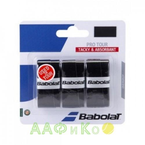Намотка для теннисных ракеток Babolat PRO TACKY X 3 (653039-105) (чёрный) 3шт.