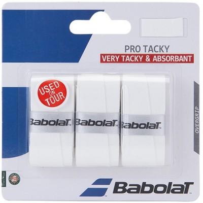 Намотка для теннисных ракеток Babolat PRO TACKY X 3 (белый) 3шт. (653039-101)