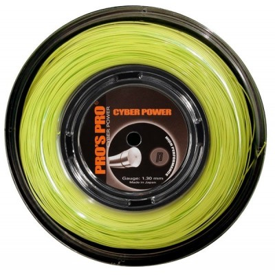 Струны теннисные Pros Pro Cyber Power лимонные 1.25 мм 200 м
