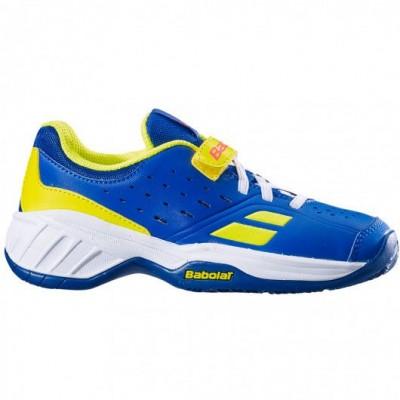 Кроссовки теннисные Babolat PULSION ALL COURT KID (синий/ярко-жёлтый) 32S19518-4043