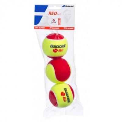 Мячи  теннисные Babolat RED FELT X3 3шт/уп