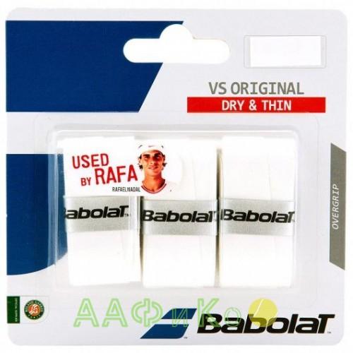 Намотка для теннисных ракеток Babolat VS ORIGINAL X3 (белый)  (Упаковка,3 штуки)