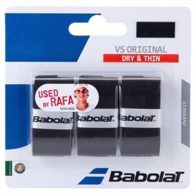 Намотка для теннисных ракеток Babolat VS ORIGINAL X3 (чёрный) (Упаковка,3 штуки)
