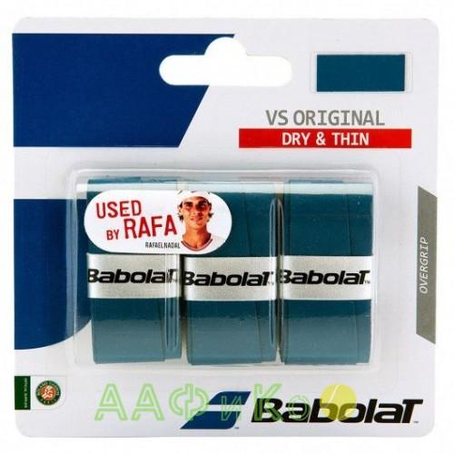 Намотка для теннисных ракеток Babolat VS ORIGINAL X3 (синий)  (Упаковка,3 штуки)