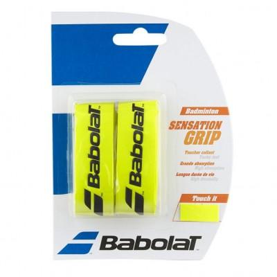 Намотка для бадминтонных ракеток Babolat GRIP SENSATION (жёлтый) 2 шт. (670064-113)