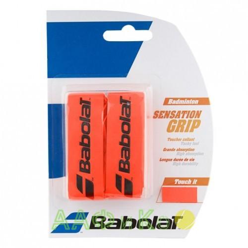 Намотка для бадминтонных ракеток Babolat GRIP SENSATION (красный неон) 2 шт. (670064-201)