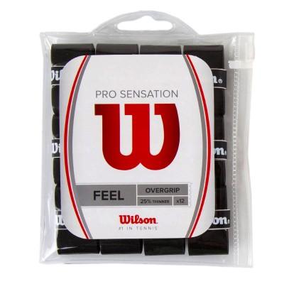 Намотка для теннисных ракеток Wilson PRO OVERGRIP SENSATION(12шт/уп) (WRZ4011BK)
