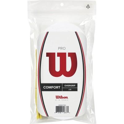 Намотка для теннисных ракеток Wilson PRO OVERGRIP (30шт/уп) (WRZ4017WH)