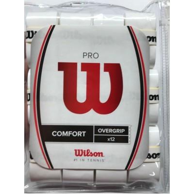 Намотка для теннисных ракеток Wilson PRO OVERGRIP (12шт/уп) (WRZ4016WH)
