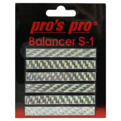 Утяжелитель для ракетки Pros Pro Balancer S-1 6шт серебристый