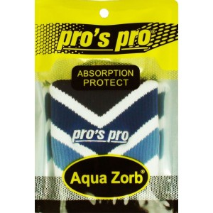 Напульсники для удаления пота Pros Pro бело/голубой