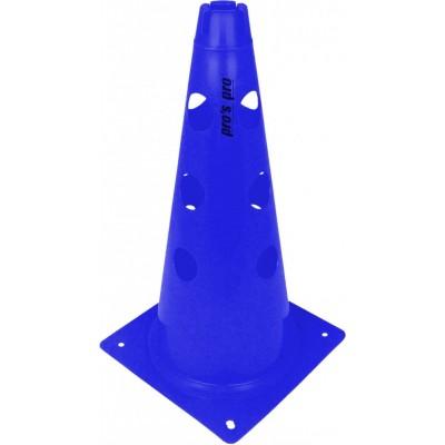 Конус маркировочный с отверстиями 38 см синий