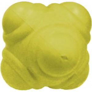 Мяч для тренировки реакции 10см желтый твердый