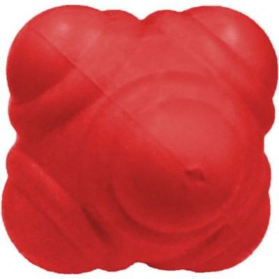 Мяч для тренировки реакции 10см красный твердый
