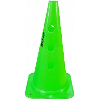 Конус маркировочный с отверстиями  Premium 38 см зеленый