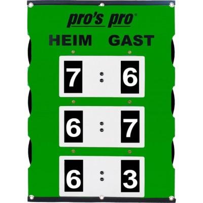 Табло счета Pros Pro двухстороннее Spielstandanzeiger SUPER LARGE 90 x 60 cm° зеленое