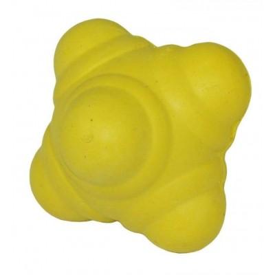 Мяч для тренировки реакции  7см желтый твердый