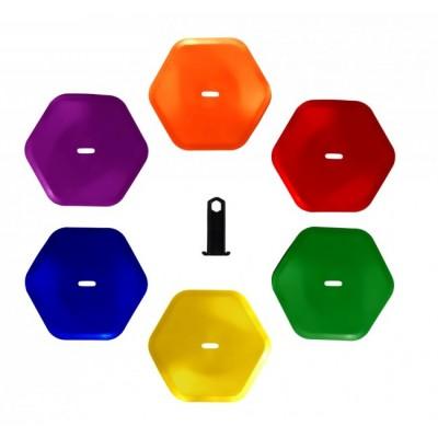 Маркировочные фишки Pros Pro Hexagon Bodenmarkierung 6шт