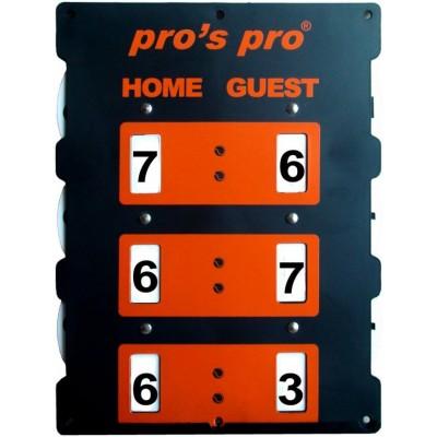 Табло счета Pros Pro Tennis INDOOR оранжевое