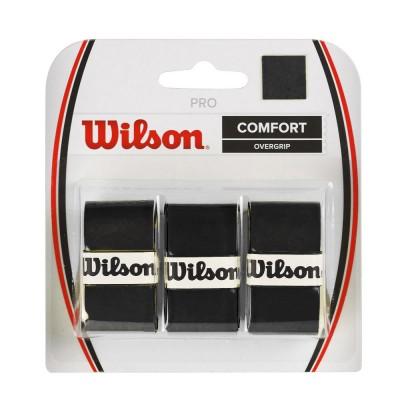 Намотка для теннисных ракеток Wilson PRO OVERGRIP (3шт/уп) (WRZ4014BK)