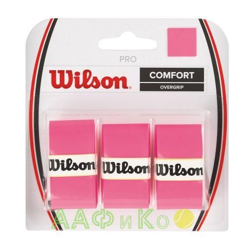 Обмотка,намотка для т/ракеток Wilson Pro Overgrip (3шт.в уп.) розовый