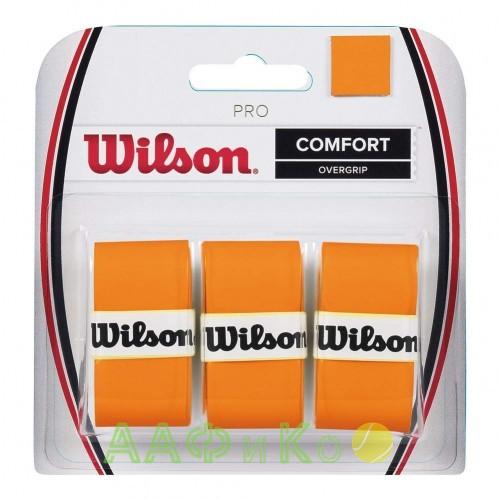 Обмотка,намотка  для т/ракеток Wilson Pro Overgrip Burn (3шт.в уп.) оранжевый