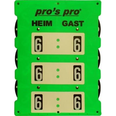 Табло счета Pros Pro Tennis INDOOR неоново зеленый